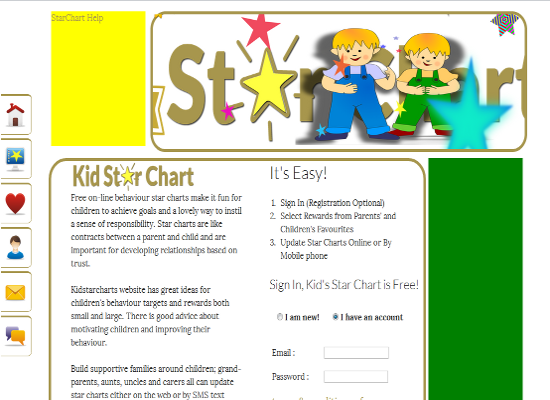 Kid Star Chart ScreenShot